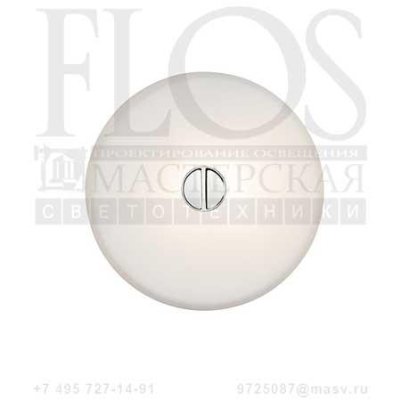 MINI BUTTON EUR DIFF.VETRO/OPAL F1490009 стекло, Flos