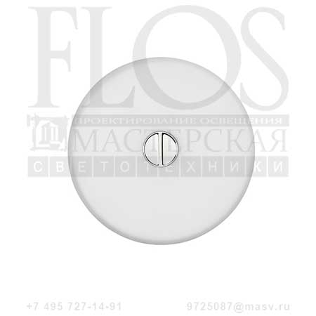 MINI BUTTON EUR DIFF.PLAST.OPAL/OPAL F1491009 белый, Flos