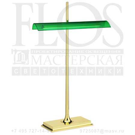 GOLDMAN EUR-USA-GB ORO  F3140044 латунь - зеленый, Flos