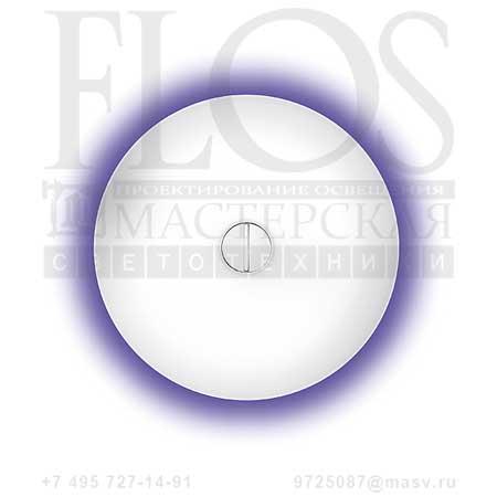 BUTTON EUR OPAL/BLU F3180014 белый - синий, Flos