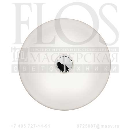 BUTTON HL E/S/GB OPAL F3190009 белый, Flos