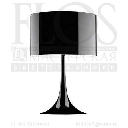 SPUN LIGHT T1 EUR NRO F6610030 блестящий черный, Flos