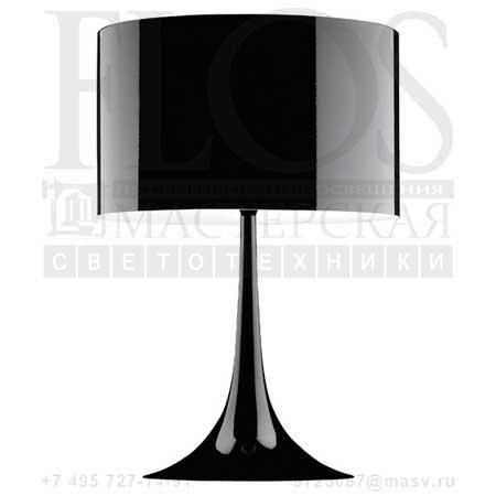 SPUN LIGHT T2 EUR NRO F6611030 блестящий черный, Flos