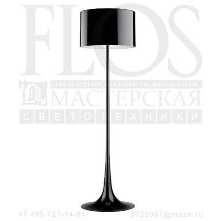 SPUN LIGHT F EUR NRO F6612030 блестящий черный, Flos
