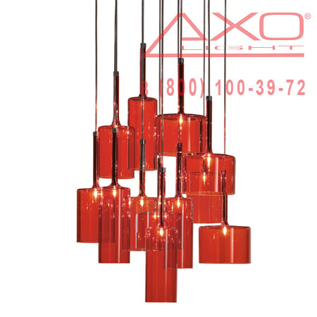 подвесной светильник AXO Light SPSPIL12RSCR12V SPILLRAY