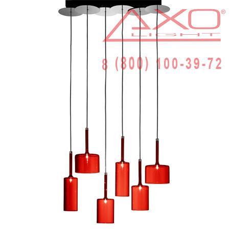 подвесной светильник AXO Light SPSPILL6RSCR12V SPILLRAY