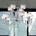 ALICANTE WHITE shade L8+4 Euroluce lampadari , Люстра