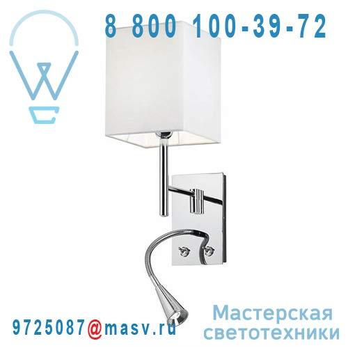 4534/027 Applique Carree avec liseuse - BED Alma Light