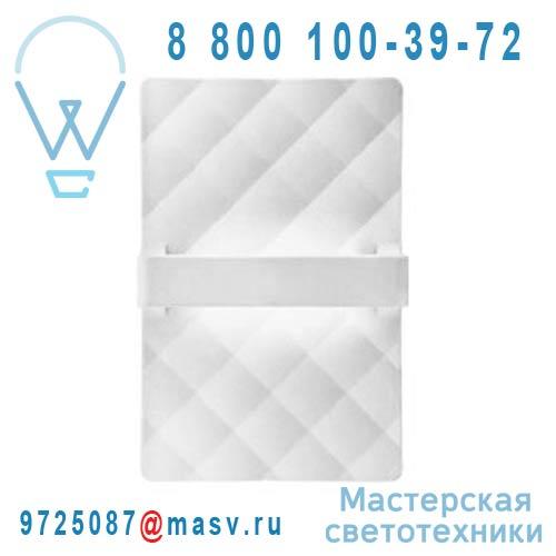 4450/011 Applique Rectangle Blanc - CAPITONE Alma Light