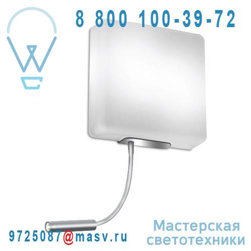 4046/016 Applique Argent avec liseuse LED - SQUARE Alma Light