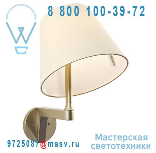 0721020A Applique Bronze/Ecru + interrupteur - MELAMPO Artemide
