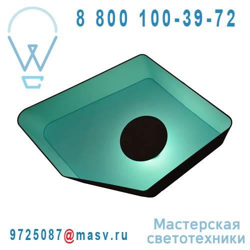 A115nmt Applique Marron/Turquoise - GRAND NENUPHAR DesignHeure