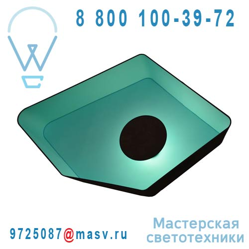 PI115nmt Plafonnier Marron/Turquoise - GRAND NENUPHAR DesignHeure