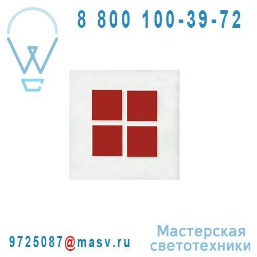 I404 V32 Tableau lumineux/Applique Blanc/Rouge - METALO 4 Dix Heures Dix