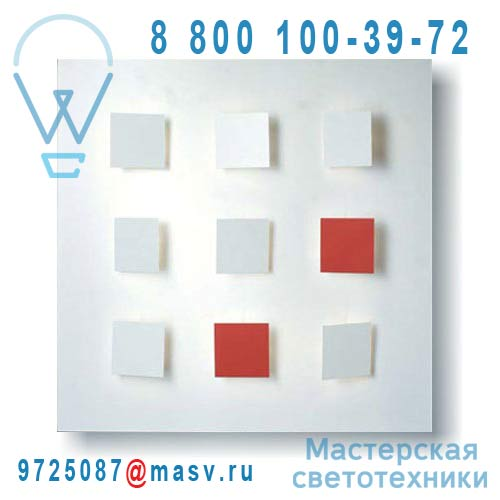 I409 V07 Tableau lumineux/Applique Blanc V07 - METALO 9 Dix Heures Dix