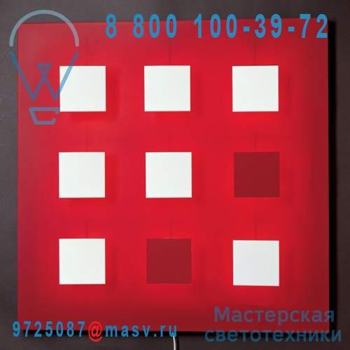 I409 V06 Tableau lumineux/Applique Rouge V06 - METALO 9 Dix Heures Dix