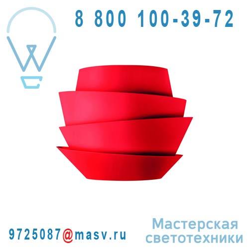 181005 63 (2 Colis) Applique Rouge - LE SOLEIL Foscarini