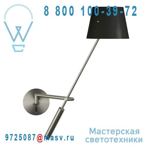 153101000 + 811084700 Applique abat-jour metal Noir - LIBRA Metalarte