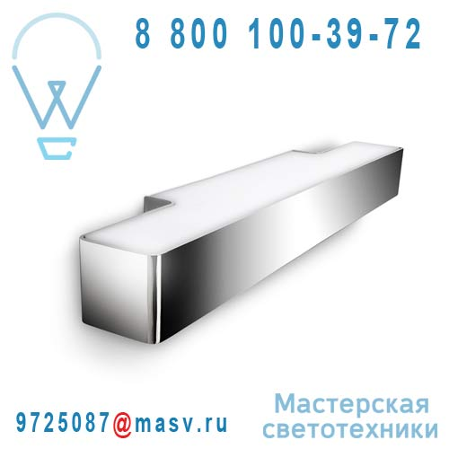 304221116 Applique Rectangle L Chrome - ECOMOODS Philips