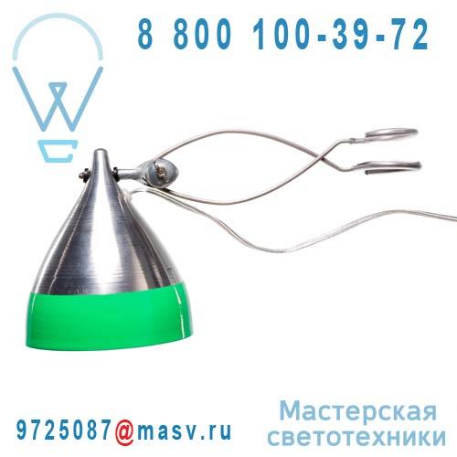 0742 Lampe a pince alu et vert - CORNETTE Tse & Tse