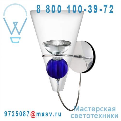 0GEMM0A04 boule bleue Applique Transparent boule bleue - GEMMA de Majo
