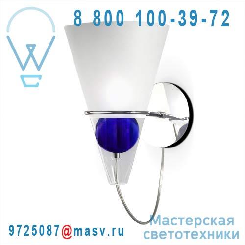 0GEMM0A00 boule bleue Applique Transparent sable boule bleue - GEMMA de Majo