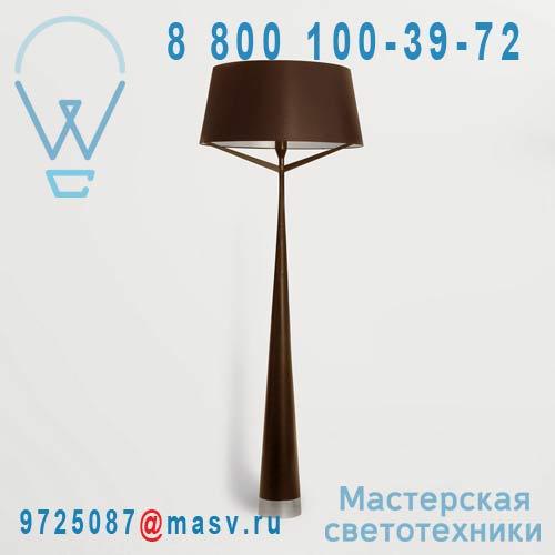 AX046 006211 (2 colis : AX046000211 + AX046006000) Lampadaire Chocolat/Silver - S71 Axis 71