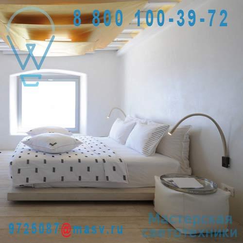 ACAM.000879 Applique/liseuse Cuir ivoire/Nickel 90 - FLEXILED Contardi