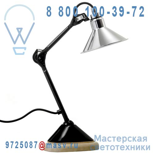 207BL-CH Lampe de bureau Chrome & Noir - N°207 DCW Editions