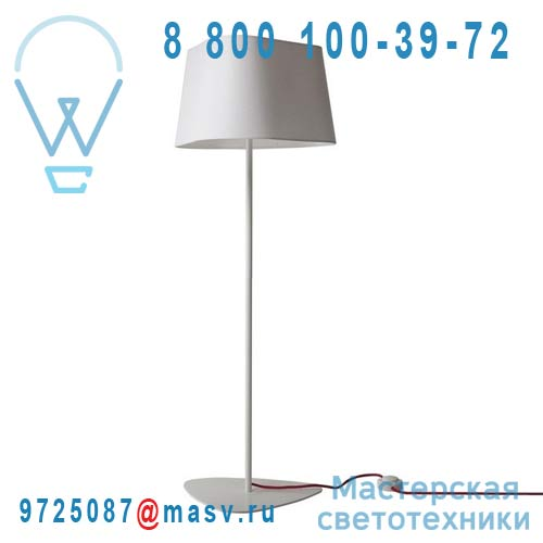 L122gnb Lampadaire M Blanc diffusant - GRAND NUAGE DesignHeure