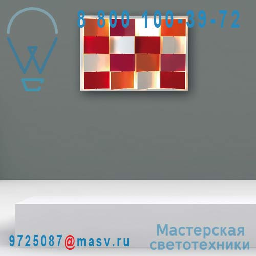 I420 Multicolore Tableau lumineux/Applique Multicolore - URBAIN Dix Heures Dix