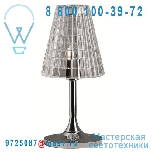 D87 B01 00 Lampe a poser S Chrome/Transparent - FLOW Fabbian