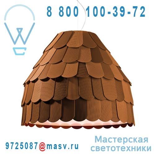 F12 A01 32 Suspension S Chocolat - ROOFER Fabbian