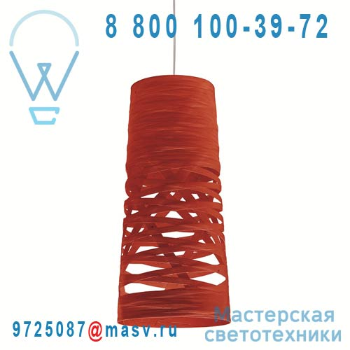 182037 63 (2 colis : 182S0012 63 + 182S072) Suspension Mini Rouge - TRESS Foscarini