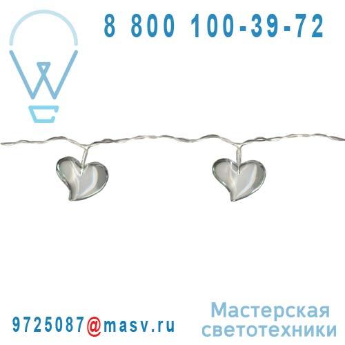 459.88 Guirlande Transparent 4,8m - ACRYLIC HEART Xmas Living Glass