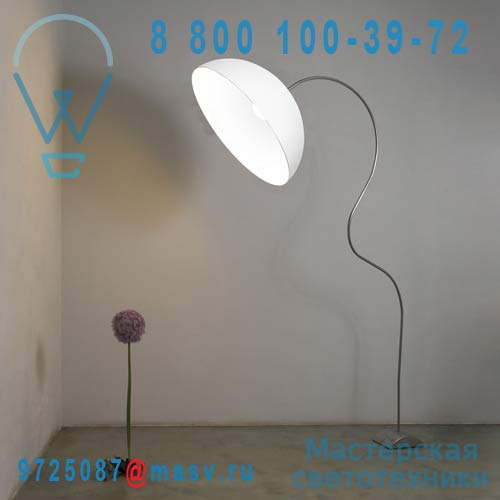 IN-ES0501PBI-B Lampadaire Blanc - MEZZA LUNA PIANTANA In-es Artdesign