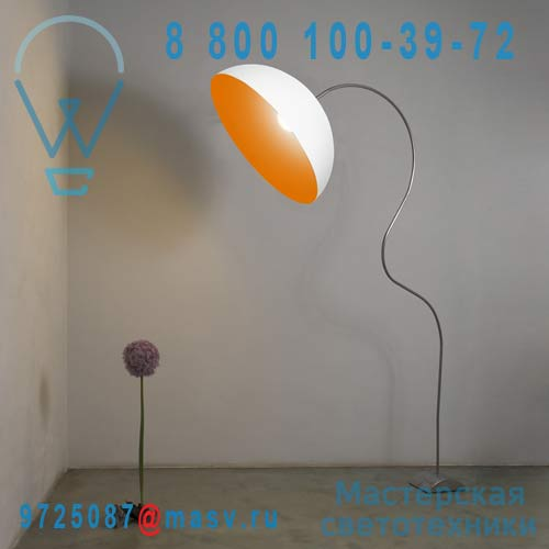 IN-ES0501PBI-A Lampadaire Blanc/Orange - MEZZA LUNA PIANTANA In-es Artdesign