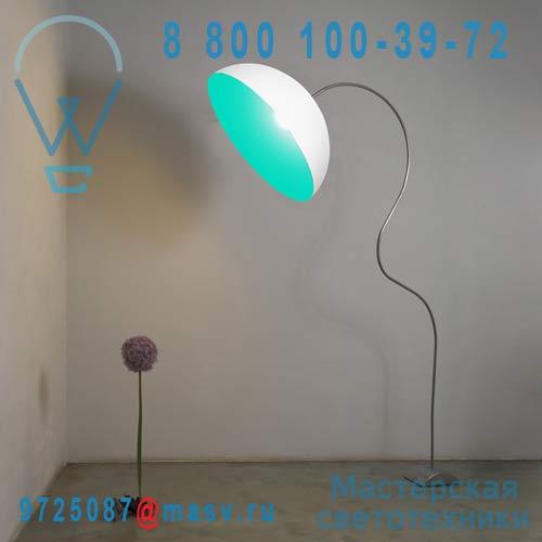 IN-ES0501PBI-T Lampadaire Blanc/Turquoise - MEZZA LUNA PIANTANA In-es Artdesign