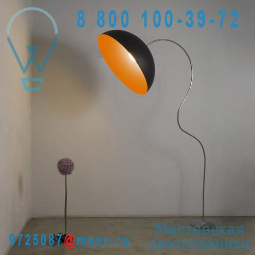 IN-ES0501PN-A Lampadaire Noir/Orange - MEZZA LUNA PIANTANA In-es Artdesign