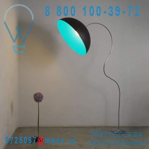 IN-ES0502PN-T Lampadaire Noir/Turquoise - MEZZA LUNA PIANTANA In-es Artdesign