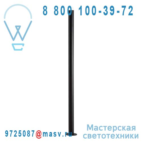 3160/018 Lampadaire LED Noir - POLE Alma Light