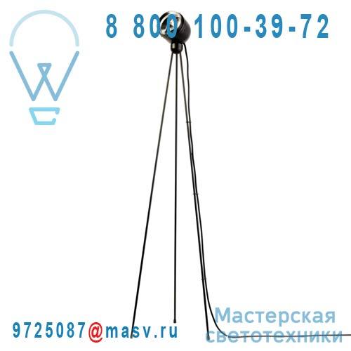 10295B Lampadaire Noir Cable Noir - TRIPOD TOUCH 360° Azimut Industries