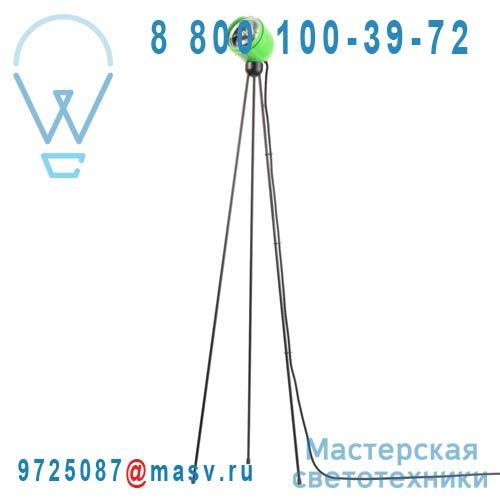 10297B Lampadaire Vert Cable Noir - TRIPOD TOUCH 360° Azimut Industries