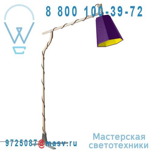 L225lvj Lampadaire Violet/Jaune - LUXIOLE DesignHeure