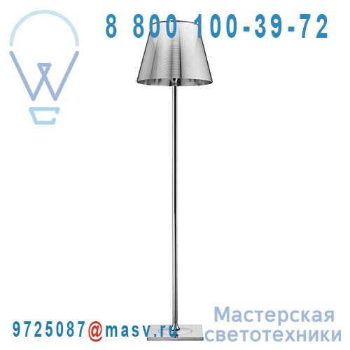 F6305004 Lampadaire Chrome & Argent - KTRIBE F2 FLOS