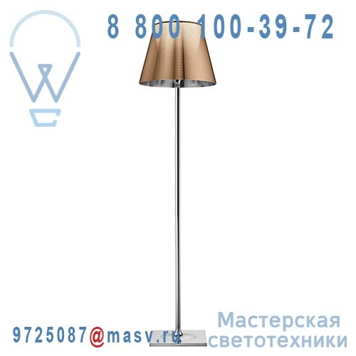 F6305046 Lampadaire Chrome & Cuivre - KTRIBE F2 FLOS