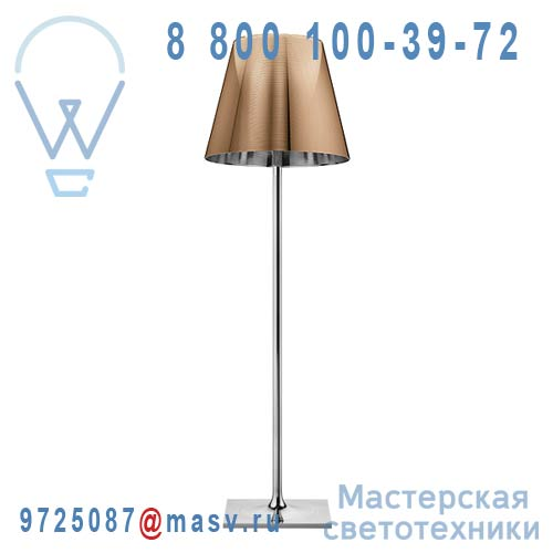 F6301046 Lampadaire XL Chrome & Cuivre - KTRIBE F3 FLOS