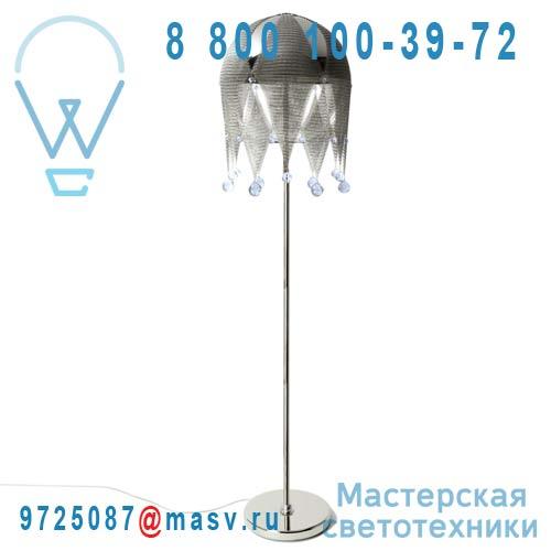 0LDBR.L44.*****400 bleu Lampadaire cristal Swarovski bleu - MATHILDE OU JUDITH Le Labo Design