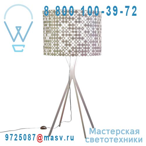 0LBBM.LPA.S165.003 Lampadaire Blanc/Inox - MISS BUBBLE XL Le Labo Design