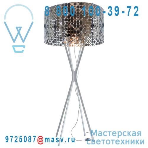 0LBBM.LPA.S200.004 Lampadaire Blanc/Inox - MISS BUBBLE XXL Le Labo Design